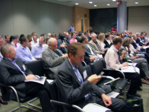 Audience at Janssen Labs Movers and Funders event for venture capital