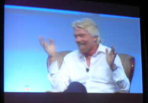 Sir Richard Branson guesturing